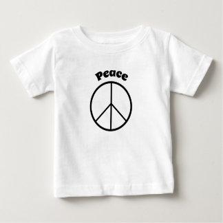 T-shirt de signe de paix de Babys rétro