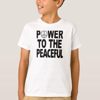 """T-shirt de signe de paix - """"puissance au paisible"""