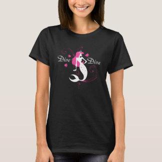 T-shirt de sirène de diva de diva
