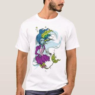 T-shirt de sirène de Goth de zombi