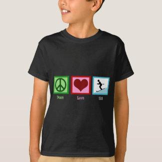 T-shirt de ski d'amour de paix