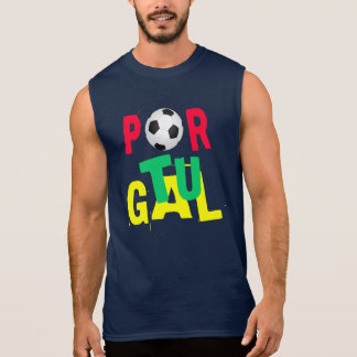 T-shirt de Sleveless du FOOTBALL du PORTUGAL (le