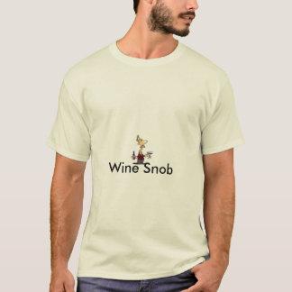 T-shirt de snob de vin