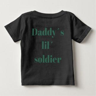 T-shirt de soldat de lil´ de daddy´s de citrouille