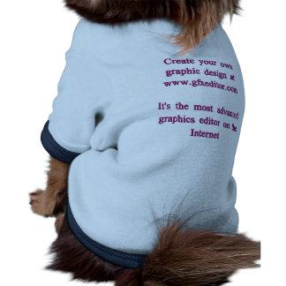 T-shirt de sonnerie de chienchien, bleu-clair/mari manteaux pour chien