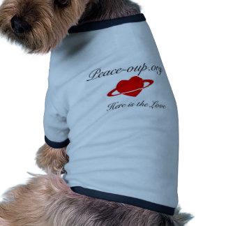 T-shirt de sonnerie de chienchien - bleu vêtements pour animaux domestiques