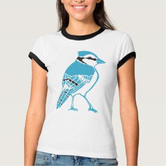 T-shirt de sonnerie de dames de geai bleu
