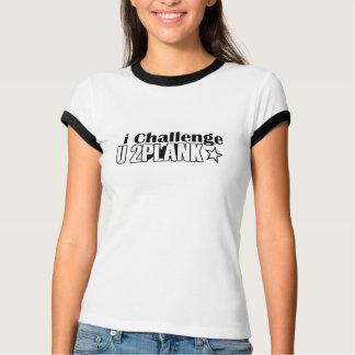 T-shirt de sonnerie de défi de planche