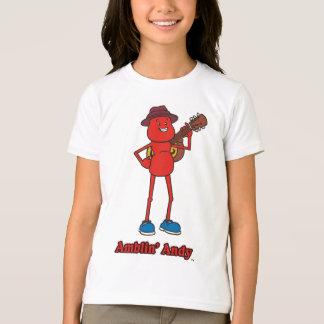 T-shirt de sonnerie de filles d'Andy