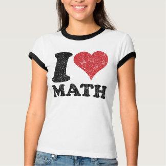 T-shirt de sonnerie de maths d'amour du cru I