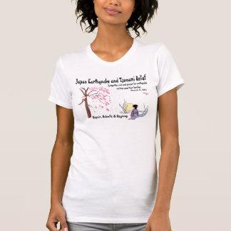 T-shirt de soulagement de tsunami de tremblement