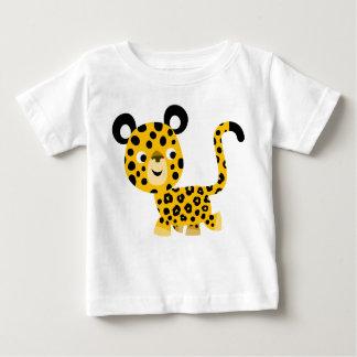 T-shirt de sourire de bébé de léopard de bande