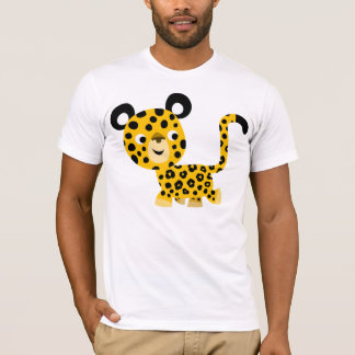 T-shirt de sourire de léopard de bande dessinée