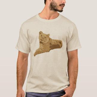 T-shirt de sourire de lionne