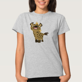 T-shirt de sourire mignon de femmes d'hyène de