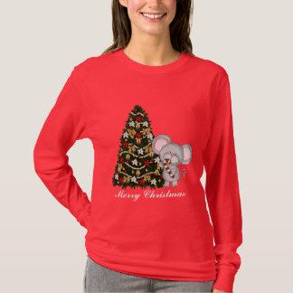 T-shirt de souris de Noël