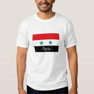 T-shirt de souvenir de drapeau de la Syrie