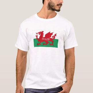 T-shirt de souvenir de drapeau du Pays de Galles