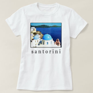T-shirt de souvenir de Santorini (hommes, les
