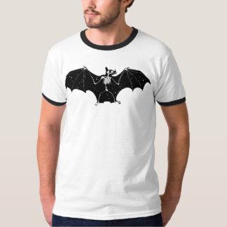 T-shirt de squelette de batte de Halloween