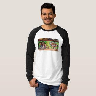 T-shirt de style de base-ball avec la photo de