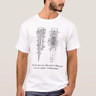 T-shirt de stylo-plume - conception de graine