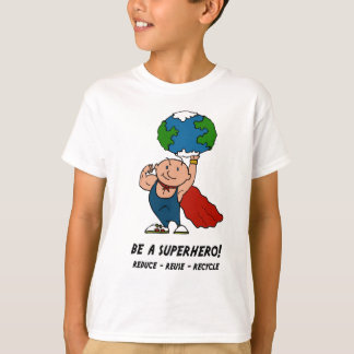 T-shirt de super héros de jour de la terre