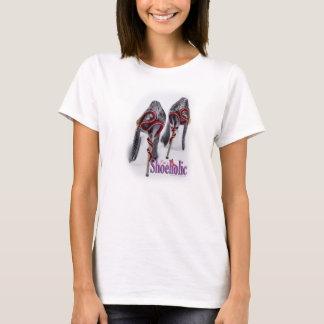 T-shirt de talon de chaussure de serpent de
