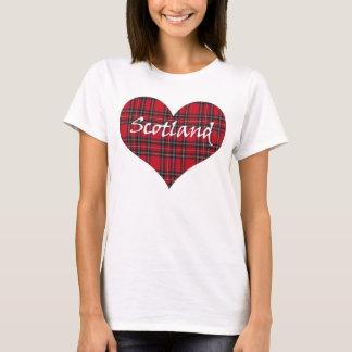 T-shirt de tartan de coeur de l'Ecosse