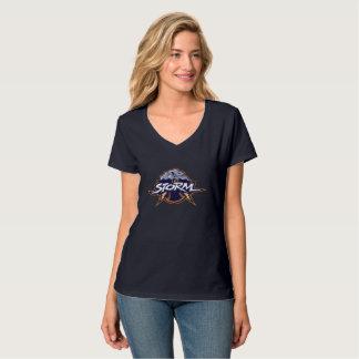 T-shirt de tempête de V-Cou de femmes