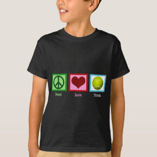 T-shirt de tennis d'amour de paix