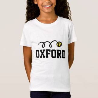 T-shirt de tennis d'Oxford pour des femmes et des