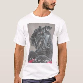 T-shirt de Terrier de bleu de Kerry