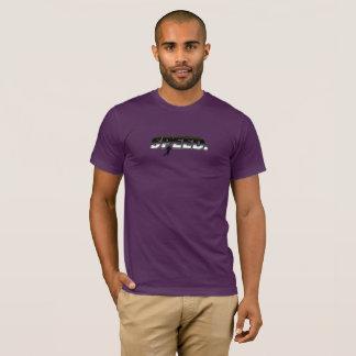 T-shirt de thème de vitesse du football des hommes