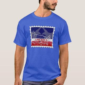 T-shirt de timbre de States appelé par Etats-Unis