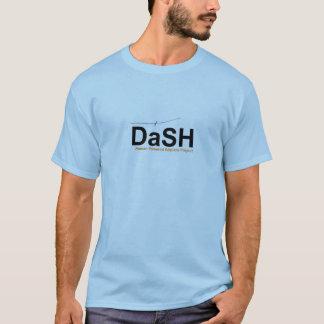 T-shirt de tiret, logo bleu-clair et grand