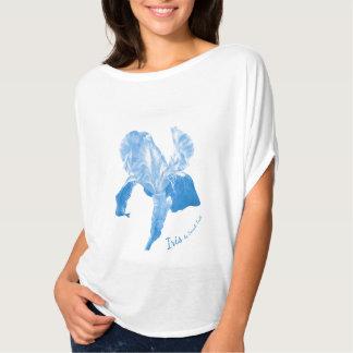 T-shirt de tonalité de bleu de ciel d'art d'iris