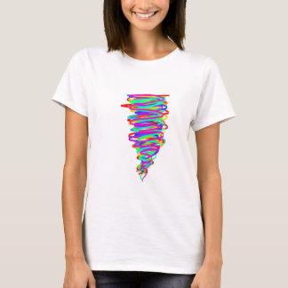 T-shirt de tornade d'arc-en-ciel