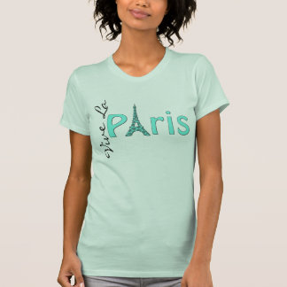 T-shirt de Tour Eiffel de Paris d'Aqua
