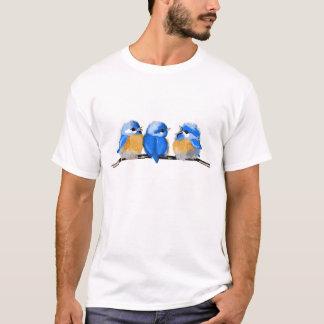T-shirt de trio d'oiseau bleu de bébé