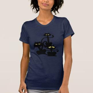 T-shirt de trois chats noirs