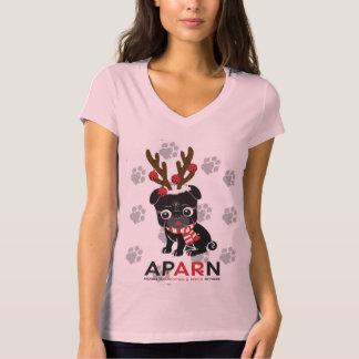 T-shirt de V-Cou de Bella des femmes de logo de