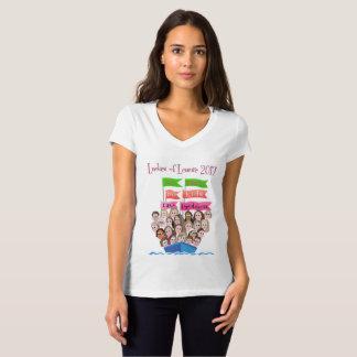 T-shirt de V-Cou de dames