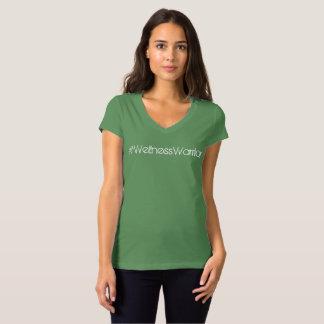 T-shirt de v-cou de douille du casquette des