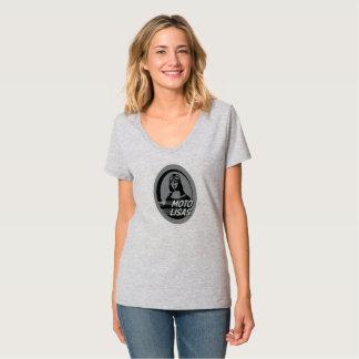 T-shirt de V-Cou de Moto Lisas - sélectionnez