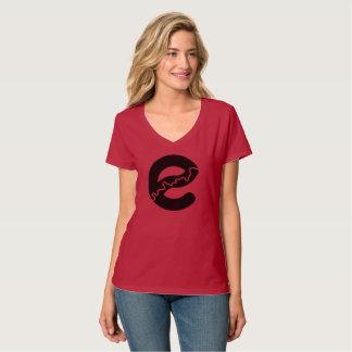 T-shirt de V-cou de rivière d'Edmonton