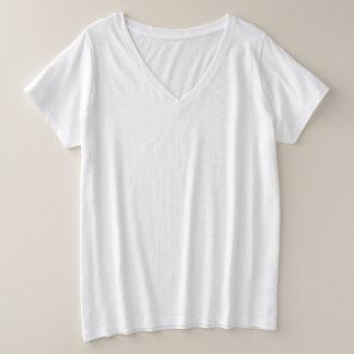 T-shirt de V-Cou du Plus-Size des femmes