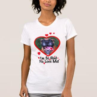T-shirt de Valentine de chien de boxeur