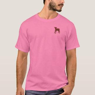 T-shirt de veau de Brown des femmes
