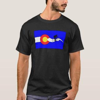 T-shirt de vélo de drapeau du Colorado des hommes